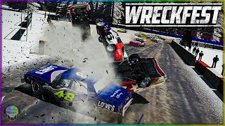 NASCAR RALLYCROSS WRECKING! | Wreckfest