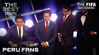 Peru Fans reaction - FIFA Fan Award 2018