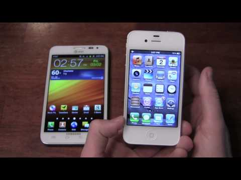 Samsung Galaxy Note vs. Apple iPhone 4S Dogfight Part 1