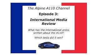 International Media Review Alpine A110