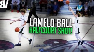 LaMelo Ball Halfcourt Shot MID-GAME! Points & Hits it! ICONIC Moment In Ball Family History!