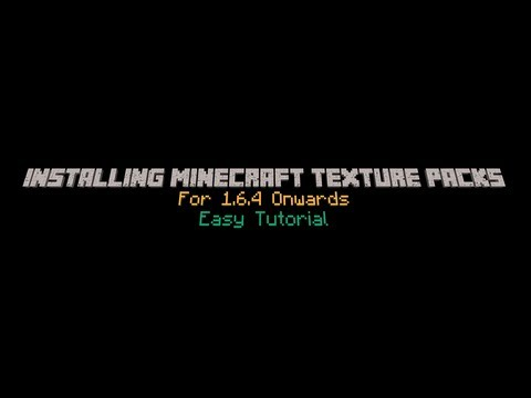 How To Install Minecraft Texture Packs  | Includes LIFE HD Texture Pack| 1.6.4
