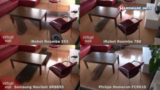 iRobot Roomba 555 vs 780 vs Samsung Navibot vs Philips Homerun coverage test
