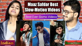 Indian Reaction On MAAZ SAFDAR Best Slow-Motion Tik Tok Compilation.
