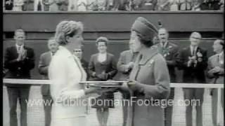 Roy Emerson and Margaret Smith Win Wimbledon 1965 Newsreel PublicDomainFootage.com