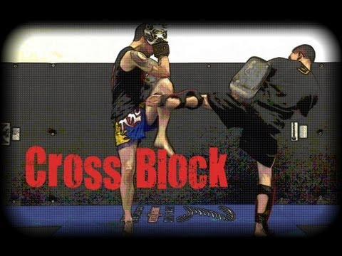 Muay Thai Defense - Cross Block - Blocking Body Kicks Image 1