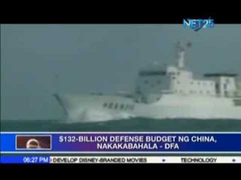 Philippines alarmed at China's 12% increase in military defense spending