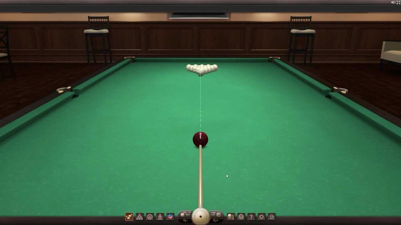 Посмотреть ролик - Коллекция: Billiards3D - демонстрация демо-версии 3D бил