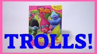 TROLLS Story Book Playmat and Figurines!  Read along!