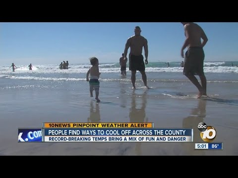 90-degree heat crushes old record in San Diego