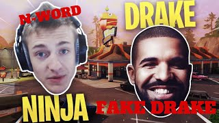 Ninja Trolled by FAKE DRAKE says N-WORD on STREAM!!! | NINJA May be BANNED on TWITCH NOW