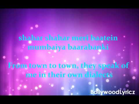 Badi Mushkil [english Translation] Lyrics video