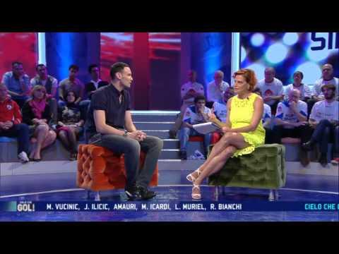 """Sintini intervistato da Simona Ventura a """"Cielo che gol!"""""""