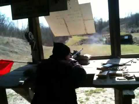 Steve shooting Remington 760 30.06 at port Elgin rifle rang