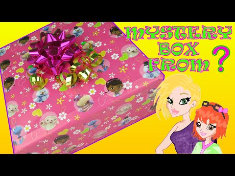 Mystery Box Opening from MommyandGracieShow with Doc McStuffins Gift Wrap & Pretty Bow