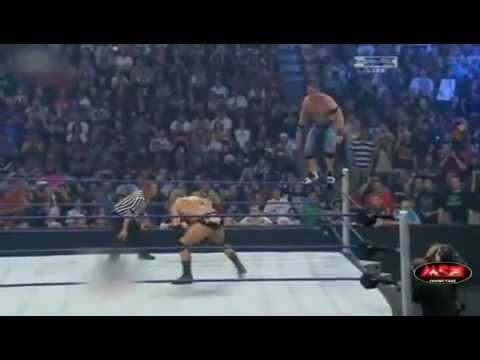 wwe summerslam 2008 batista breaks john cena s neck youtube
