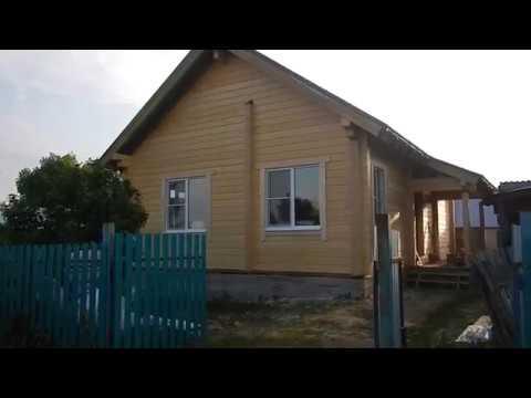 Обзор одноэтажного дома из клееного бруса 200 мм, Нурлат