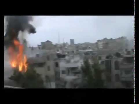 Massive Artillery Bombardment in Homs, During Cease-Fire (15 April 2012)