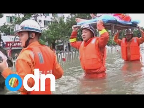 Gale winds and heavy rains due to Typhoon Kalmaegi hit parts of southern China.