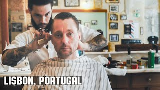 HairCut Harry's Lisbon Portugal HairCut Experience at Figaros Barbershop