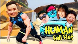 MAI LINH TỨC PHÁT ĐIÊN, SERNGAO GÁNH TEAM ĐỤT THẦN KỲ =)))) - Human Fall Flat !!!