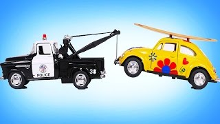 Police Tow Truck Towing Toy Vehicles for Kids