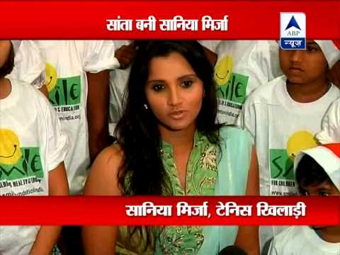 Mumbai: Sania Mirza Turns Santa For Ngo Kids video