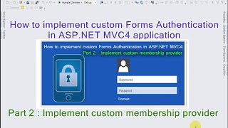 Part 2 - How to implement custom Forms Authentication in ASP.NET MVC4 application