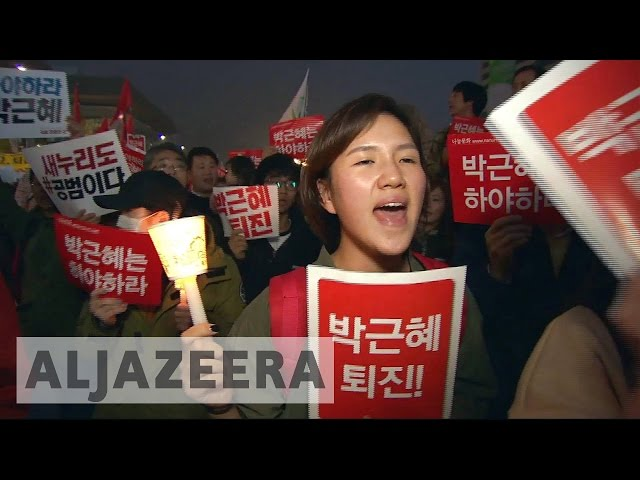 South Koreans on the streets in anti-Park protests