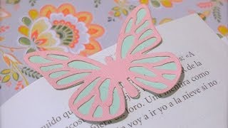 Butterfly bookmark. Partial die Cutting. (ENGLISH)