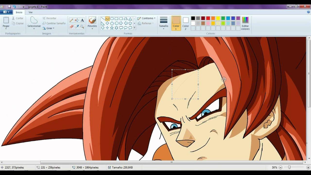 Drawing Gogeta Ssj4 ms Paint Drawing Gogeta Ssj4 in Paint