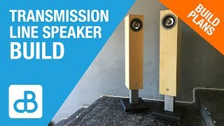 Transmission Line SPEAKER BUILD - by SoundBlab