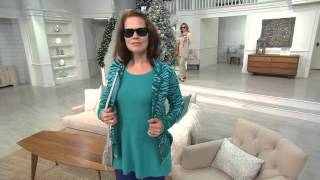 Isaac Mizrahi Live! 2-Ply Cashmere Fluid Hem Sweater Tunic on QVC