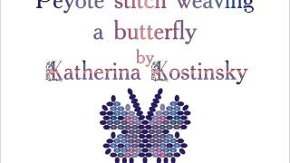 The principle of peyote stitch weaving a butterfly