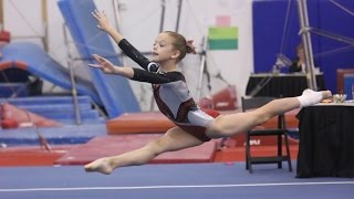 Whitney - Level 4 Gymnastics Floor Routine (9.35) Apple Classic 2013