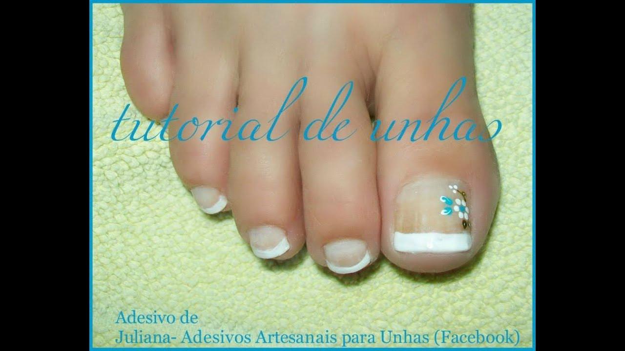 Como Fazer Adesivos De Oncinha ~ Adesivos de unhas nos pés Juliana Adesivos Artesanais