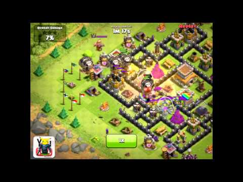 Clash of Clans [TH8 Road to 2000] 2300's v. Mass Lvl 6 Balloons. P.E.K