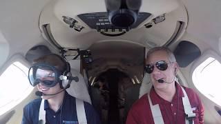 Sam gets some jet time-Smoke Goggles!