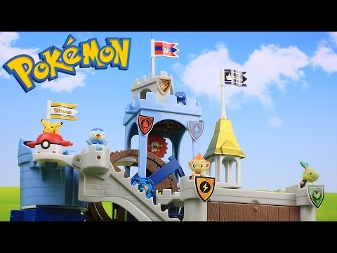 Pokemon Toys Mechanism Castle 5 Packs Unboxing