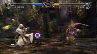 Soulcalibur V - PS3 / X360_ Battle Replay 1 - Ezio Vs Viola