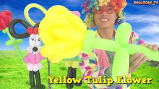Balloon Tulip Flower_Learning Color, Animal, Shape...With Mr Siro_Balloons TV