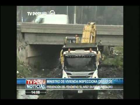Ministro de Vivienda supervisó obras de descolmatación de río Huaycoloro