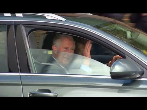 Prince Charles and Camilla leave Kensington Palace after meeting royal baby