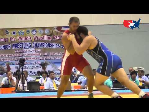 2012 Junior Worlds - GR 120kg - Wyatt Baker (USA) vs. Mykola Kuchmii (UKR)