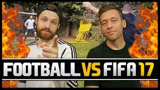 FOOTBALL VS FIFA WITH JIMMY CONRAD! (GARDEN FOOTBALL EDITION!)