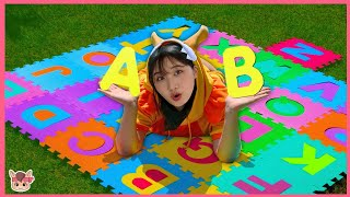 ABC Song with Alphabet | +More Nursery Rhymes & Kids Songs