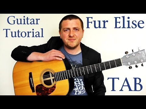 Fur Elise - Guitar Tutorial - Beethoven - A Slow And Easy Breakdown - Part 1