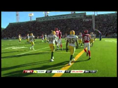 Henry Burris 17 yard touchdown pass to Romby Bryant - July 23, 2011