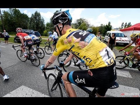 Chris Froome 2014 Tour De France Stage 5 Crashes reaction