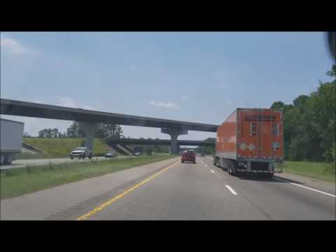 4K Driving From North Carolina to South Carolina Timelapse on the i95 Intersate 95
